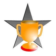 Free Champion S Cup With Star Stock Image - 4671231