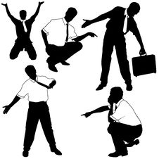 Free Businessman As Model Silhouettes Royalty Free Stock Images - 4671369