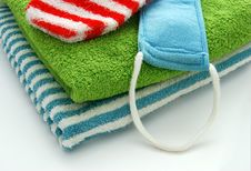 Free Towel And Bath Glove Stock Photos - 4671983