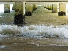Under The Pier Stock Photography
