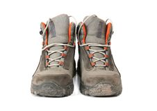Free Dirty Trekking Shoes Royalty Free Stock Photos - 4672468
