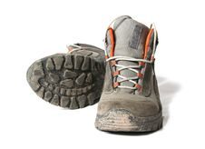 Free Dirty Trekking Shoes Stock Image - 4672481