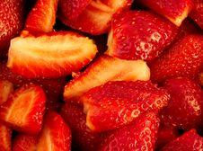 Free Cut Strawberries Background Royalty Free Stock Image - 4672746