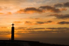 Free Cross, In Cape Of Roca Royalty Free Stock Photos - 4672828