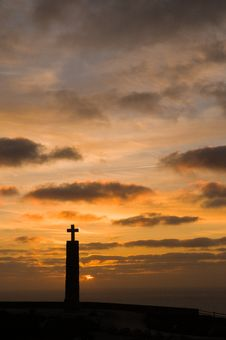 Free Cross, In Cape Of Roca Royalty Free Stock Photo - 4672915