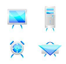 Free Blue Icons Stock Photo - 4673260
