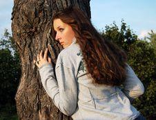 Free Girl Near The Tree Royalty Free Stock Photography - 4673377