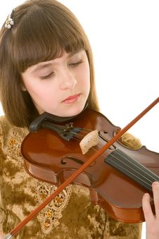 Free Girl With Violin Stock Photos - 4673533