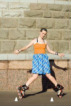 Free Roller Girl Stock Photos - 4673853