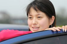 Free Girl S Near The Car Stock Images - 4673884