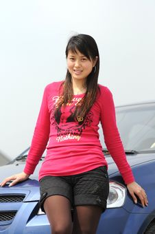 Free Girl S Near The Car Stock Photography - 4673932