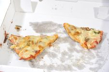 Two Pizza Slices Stock Photography