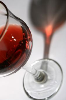Free Red Wine With Shadow Stock Images - 4674694