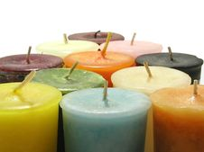 Candle Pyramid Royalty Free Stock Images