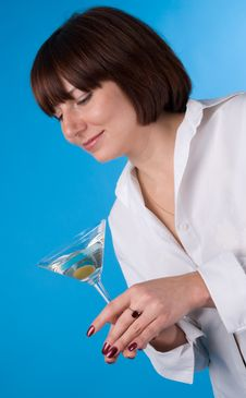 Free The Woman With A Glass Of Martini Stock Photos - 4675733