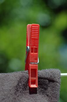 Free Clothes Peg. Royalty Free Stock Images - 4675859