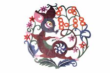 Free Chinese Cloth Art Paper-cut Stock Photography - 4675922