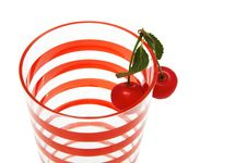 Free Glass With Two Cherries Stock Photo - 4676050