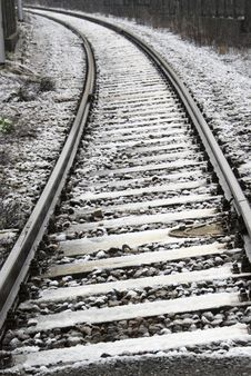 Free Snowy Trolley Track Royalty Free Stock Images - 4676609