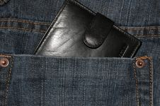 Wallet In The Pocket Royalty Free Stock Images