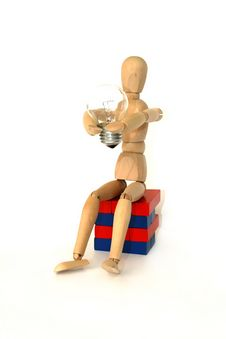 Free Articulated Wooden Model Royalty Free Stock Photos - 4677338