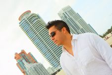 Free Man And Buildings In The Background Royalty Free Stock Images - 4677339