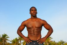Free Bodybuilder Posing For The Camera Royalty Free Stock Photo - 4677565