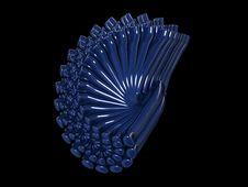 Free Shiny Blue Tube Abstract Stock Photo - 4677710