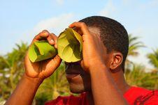 Free Man Looking Through Binoculars Stock Photos - 4678103