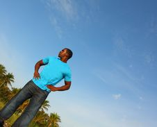 Free Young Black Man Standing Tall Stock Photo - 4678220