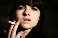 Free Addicted To Smoking Royalty Free Stock Photo - 4678575