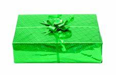 Free Green Celebratory Gift Box Isolated Stock Photo - 4679270