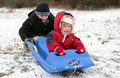 Free Brother And Sister Sledging Stock Image - 4683221