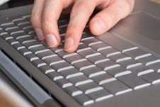 Free Typing On A Laptop Royalty Free Stock Image - 4680226