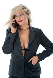 Free Business Woman  Calling Stock Images - 4680534