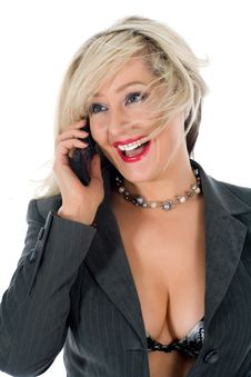 Free Business Woman  Calling Stock Images - 4680544