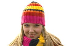 Free Beautiful Girl Smiling In Hat Stock Photo - 4680660