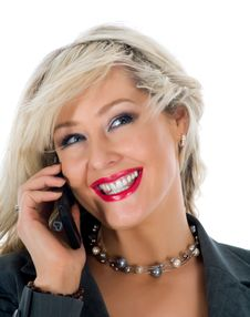 Free Business Woman  Calling Royalty Free Stock Photo - 4680845