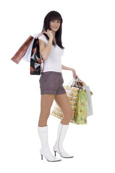 Shoppers Woman Royalty Free Stock Images