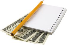 Free Money,notebook 3 Royalty Free Stock Photos - 4682068