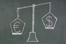 Free Scales With Dollar And Euro Symbols Stock Photos - 4682683