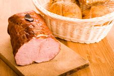 Ham And Some Rolls Stock Image