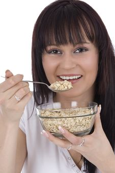 Free Woman Eats Cereals Royalty Free Stock Photos - 4683408