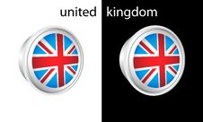 Free United Kingdom Button Stock Image - 4683991