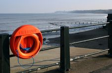 Free Lifebelt On Yorkshire Coast Royalty Free Stock Photography - 4684127