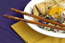Free Asian Salad With Chopsticks Royalty Free Stock Image - 4684626