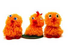 Free Three Chicken Figures Royalty Free Stock Photography - 4684927