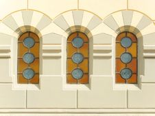 Three Stained Windows Royalty Free Stock Photos