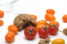 Tomato And Bread Stock Images
