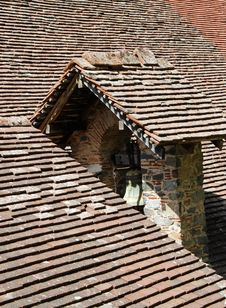 Church Roof With Belfry Royalty Free Stock Photo